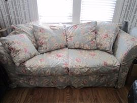 Floral sofa with matching loveseat