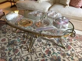 LaBarge Coffee Table, mixed metals