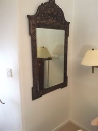 Silver on wood mirror