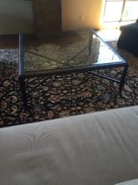 Gorgeous custom high end coffee table on a 40,000. Persian rug from Azadi we have all original paperwork & we will consider all reasonable offers!