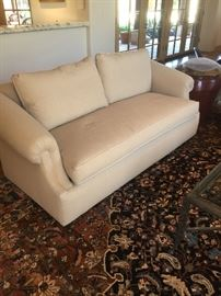 A.Rudin custom sofa in perfect condition with down pillows.