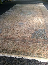 Yellow/blue rug 24.8L x 11.6 W  Beautiful condition