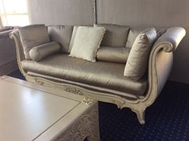 This stunning Marge Carson sofa matches the day bed