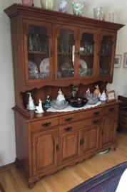 Solid cherry hutch purchased in 60's, lovingly cared for.