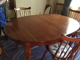 Cherry table without pad.
