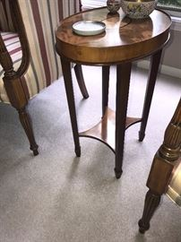 MAHOGANY TALL SIDE TABLE