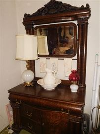 Washstand, part of bedroom set that includes bed, dresser, washstand and armoire