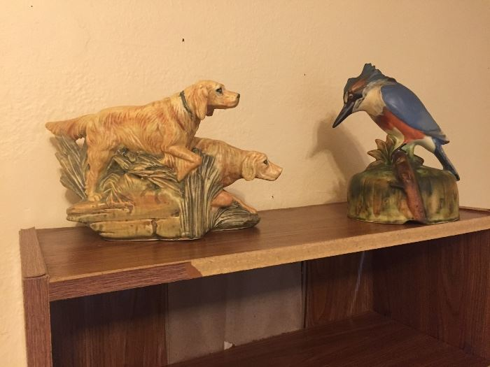 Weller Woodcraft Hunting Dogs and Kingfisher Flower Frog