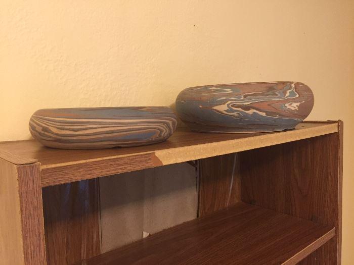 Niloak Swirl Bowls
