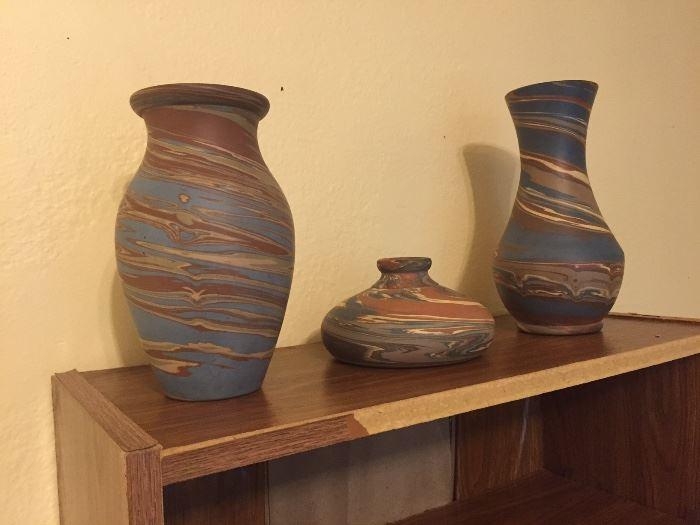 Niloak Swirl Vases