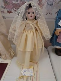 """Lindsey"" by Danbury Mint, ""Bride of America"" - 1986   $35"