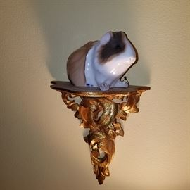 Royal Copenhagen Guinea Pig on gilt bracket