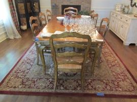 CENTURY DINING SET WITH 8 CHAIRS AND 2 LEAVES