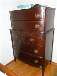 mahogany chest on chest