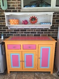 Cheerful cabinet and decor