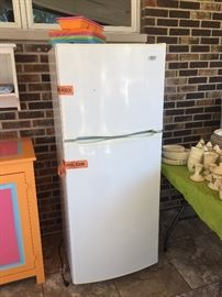 Almost brand new apartment size refrigerator