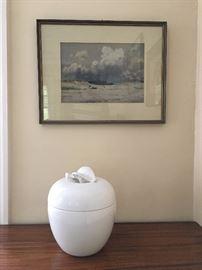Tiffany Lidded Apple Jar