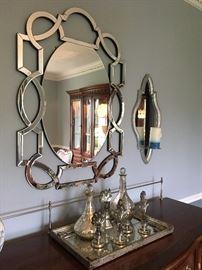 Wall Mirror, Mercury Glass Decor