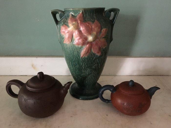 Roseville, Japanese Tea pots