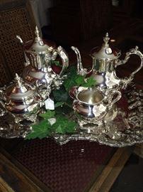 Lovely silver plate tea service