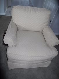 Lovely cream upholstered chair (two of them)