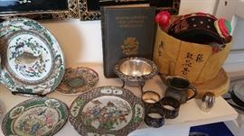chinese porcelains, collectibles-sterling pieces including Kirk repousse sauce boat