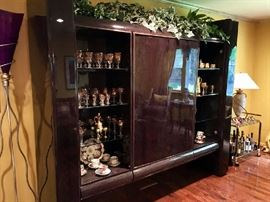 Stunning Entertainment Curio Wall Unit