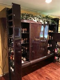 Liquor Cabinet Pulls Out on Both Sides!