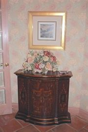 Stenciled Cabinet, Art and Decorative Floral