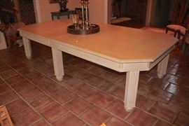 Light Wood Dining Room Table with Decorative