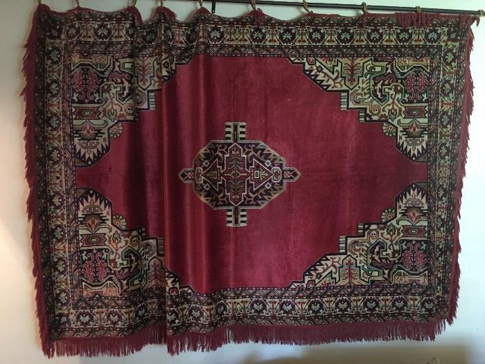 Silk hanging rug