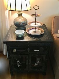 Asian Modern end table (LAMP NOT AVAIL)