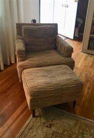Mid-Cen Chair & ottoman