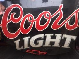 Custom painted car hood with Nascar Coors Light Logo