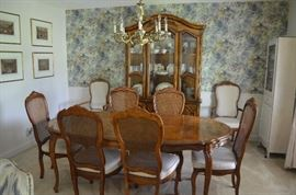 Gorgeous Dining Suite featuring the Cabriole leg Dining Table,  8 matching Chairs, & the Elegant China Cabinet
