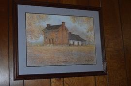 Beautiful Local History Painting by Billie Young - Painted in 1987 # 71 of only 500,