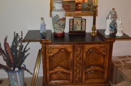 Vintage Buffet Cabinet with Double Doors and Fold Out Top for Awesome Display Possibilities