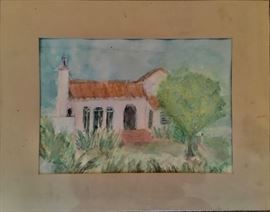 Watercolor of 8712 Dorrington.