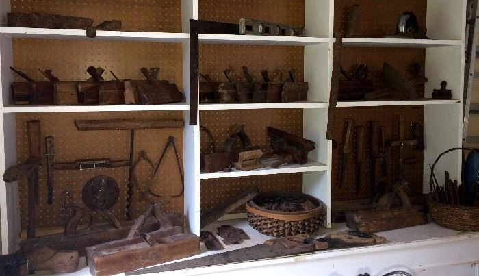 Antique Woodworking Tool Collection Large Starts On 6 1 2017
