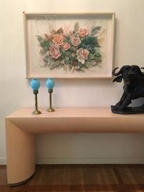 3D Paper Art, Contemporary Hall Table