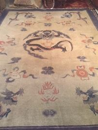 """Hand-knotted Chinese Peking carpet...measures 8'11"""" x 11'6'"""