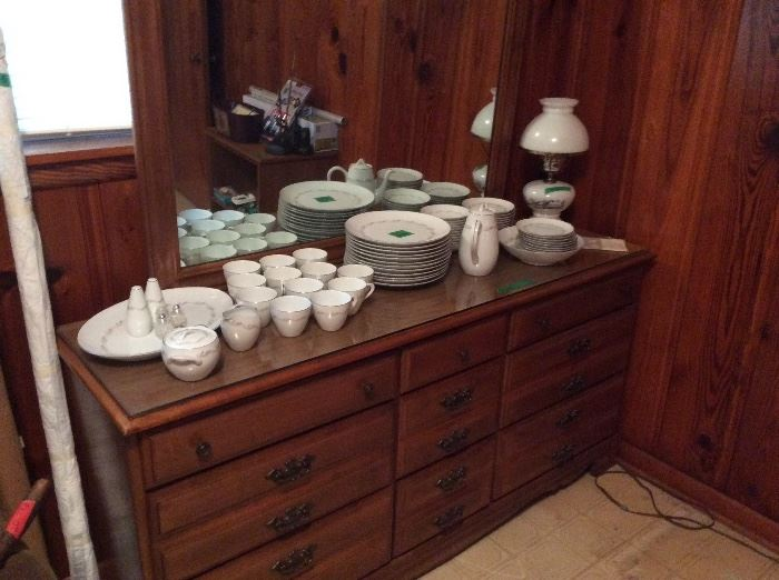 Set of LeiLani dishes, Dresser & lamp