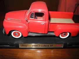 Vintage model cars and trucks