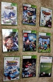 Xbox Games: Sonic Generations, Sonic All-Star Racing Transformed, Rayman Origins, MineCraft, The Crew, Lego Star Wars III, Lago Star Wars The Force Awakens, Lego Harry Potter Years 1-4 & 5-7