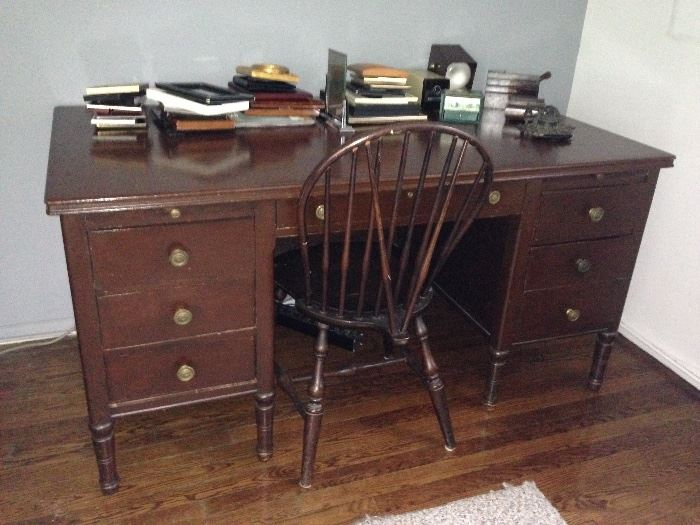 Desk, Chair