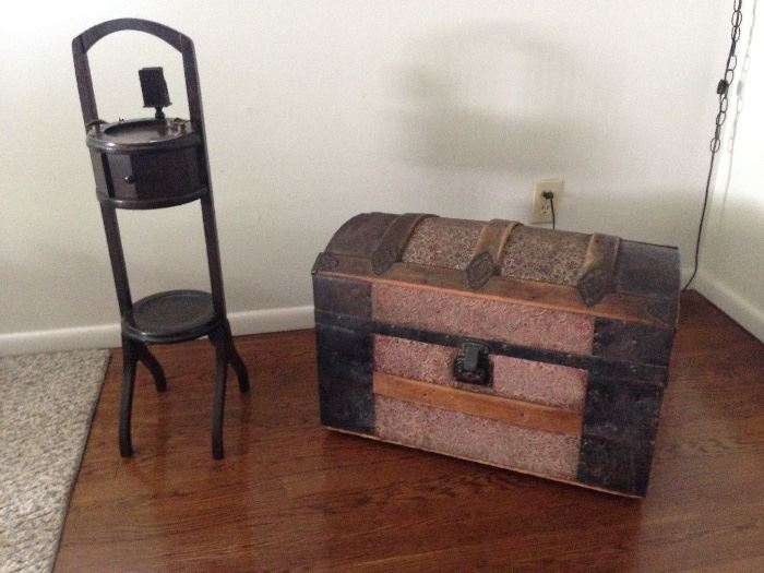 Smoking Stand, Small Dome Top Trunk