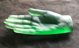 green glass hand of envy