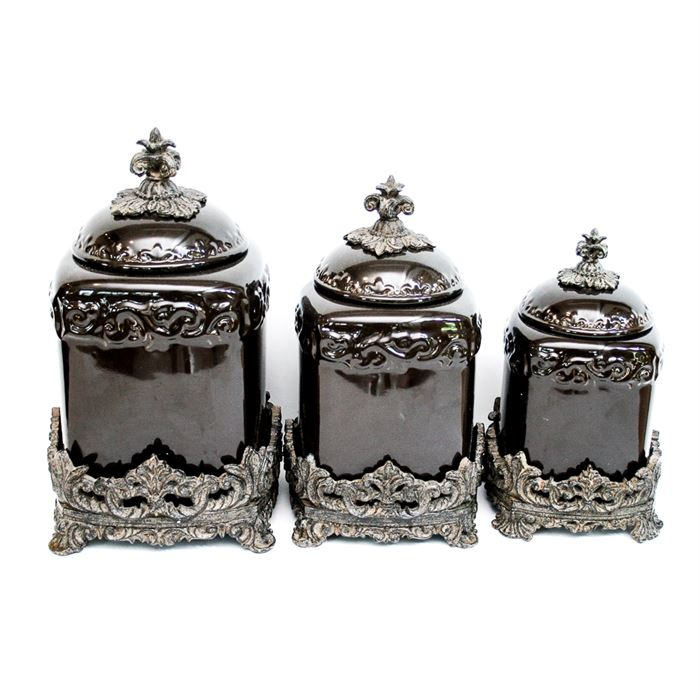28+ [ Old World Glass Canisters Set ] | Old Dutch Victoria