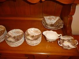 OLD ENGLISH COUNTRYSIDE DISHES (LIGHTING BAD)