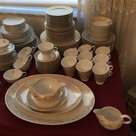 GOLD RIMMED CHINA by HARMONY HOUSE